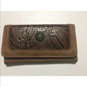 American West Bandana GUNS ROSES Wallet Leather